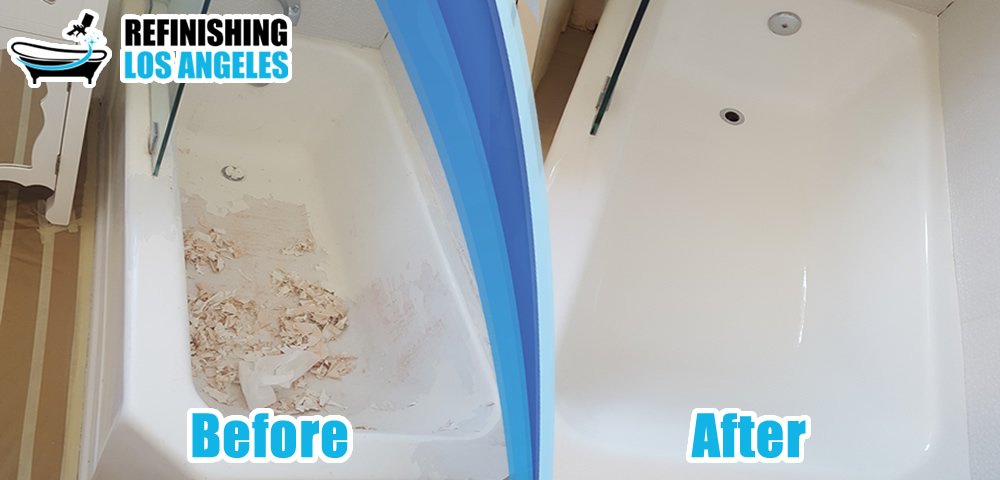 bathtub before and after refinish