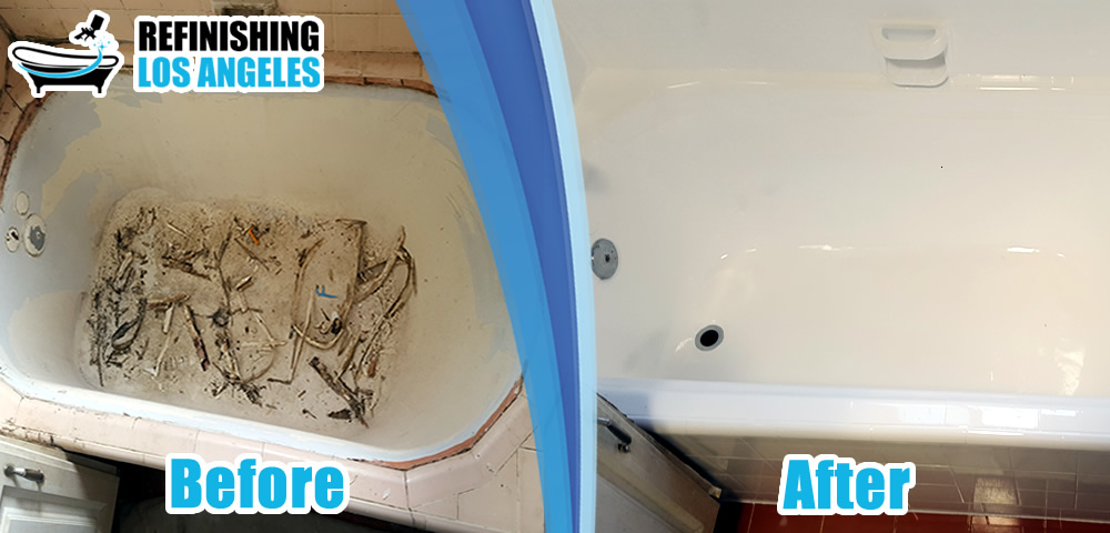 bathtub before after resurfacing