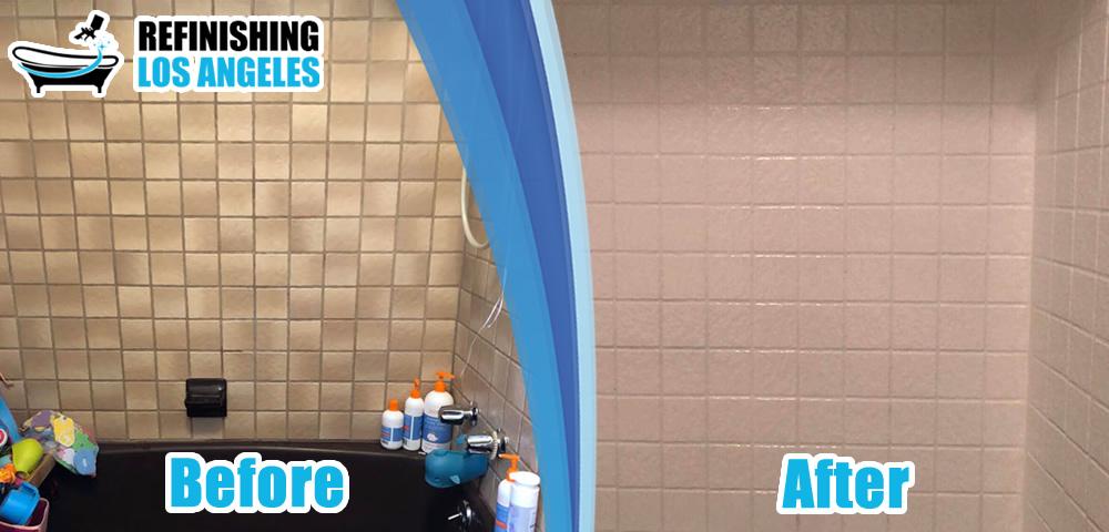 tile refinishing before after resurfacing